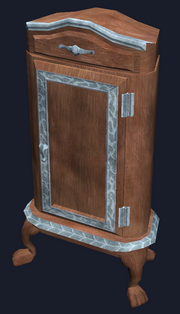 Mahogany dresser (Visible)