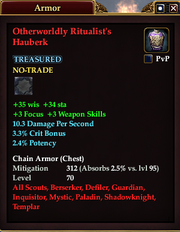 Otherworldly Ritualist's Hauberk