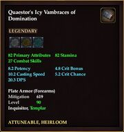 Quaestor's Icy Vamrbaces of Domination