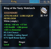 Ring of the Vasty Matriarch
