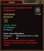 Spiritualist's Spaulders of the Enlightened