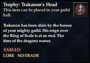 Trophy Trakanons Head