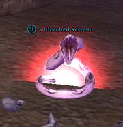 A bleached serpent