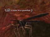 A stone hive guardian