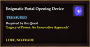 Enigmatic Portal Opening Device