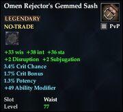 Omen Rejector's Gemmed Sash
