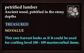 Petrified lumber