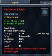 Rat Hunter's Spear