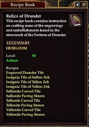 Relics of drunder