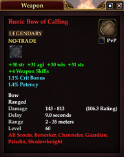 Runic Bow of Calling