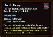 A kobold kidney