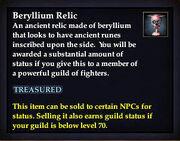 Beryllium Relic