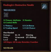 Findingle's Destructive Needle