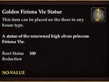 Golden Firiona Vie Statue