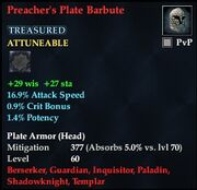 Preacher's Plate Barbute