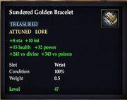 Sundered Golden Bracelet