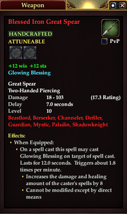 Blessed Iron Great Spear