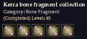 CQ kerra bone fragment collection Journal