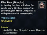 Dire Bear (Templar)