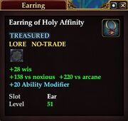 Earring of Holy Affinity
