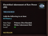 Electrified Adornment of Raw Power (2H)