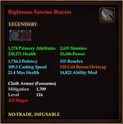 Righteous Sanctus Bracers