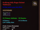Scallwag Jolly Roger Etched Vambraces (0 Gem)