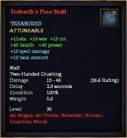 Treherth's Pine Staff
