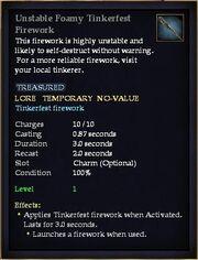Unstable Foamy Tinkerfest Firework