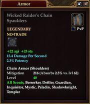 Wicked Raider's Chain Spaulders
