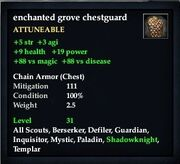 Enchanted grove chestguard