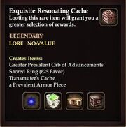 Exquisite Resonating Cache