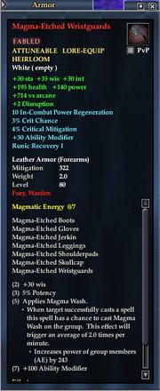Magma-Etched Wristguards