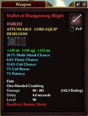 Mallet of Bludgeoning Blight