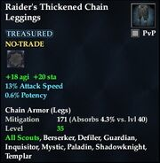 Raider's Thickened Chain Leggings