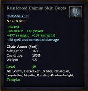 Reinforced Caiman Skin Boots