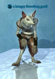 A hungry Snowfang gnoll
