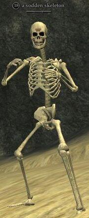 A sodden skeleton