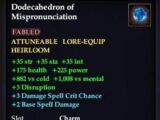 Dodecahedron of Mispronunciation