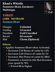Khast's Whistle summoner