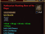 Nathsarian Hunting Bow of No Hope (Level 78)