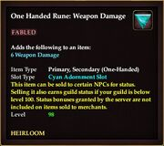 One Handed Rune Weapon Damage