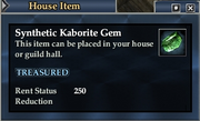 Synthetic Kaborite Gem