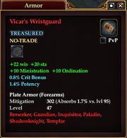 Vicar's Wristguard
