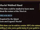 Yha-lei Webbed Hand