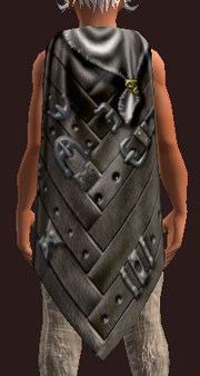 Banded Cloak of Dissolution (Equipped)