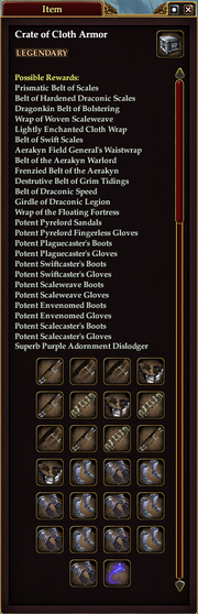 Crate of Cloth Armor (Halls of the Betrayer)