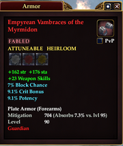 Empyrean Vambraces of the Myrmidon