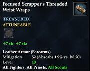 Focused Scrapper's Threaded Wrist Wraps
