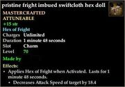 Fright imbued swiftcloth hex doll